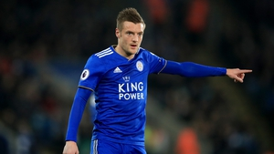 Jamie Vardy was substituted on Saturday with the problem