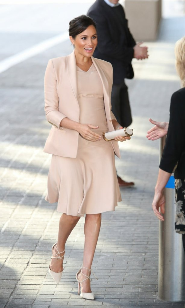 Meghan visits the National Theatre in January (Yui Mok/PA)
