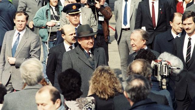 Mikhail Gorbachev at Shannon Airport