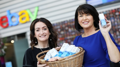 Deirdre Ui Chathmhaoil, founder of Rí Na Mara, a family business in Connemara and one of the first companies to join the eBay programme and Hazel Mitchell, eBay