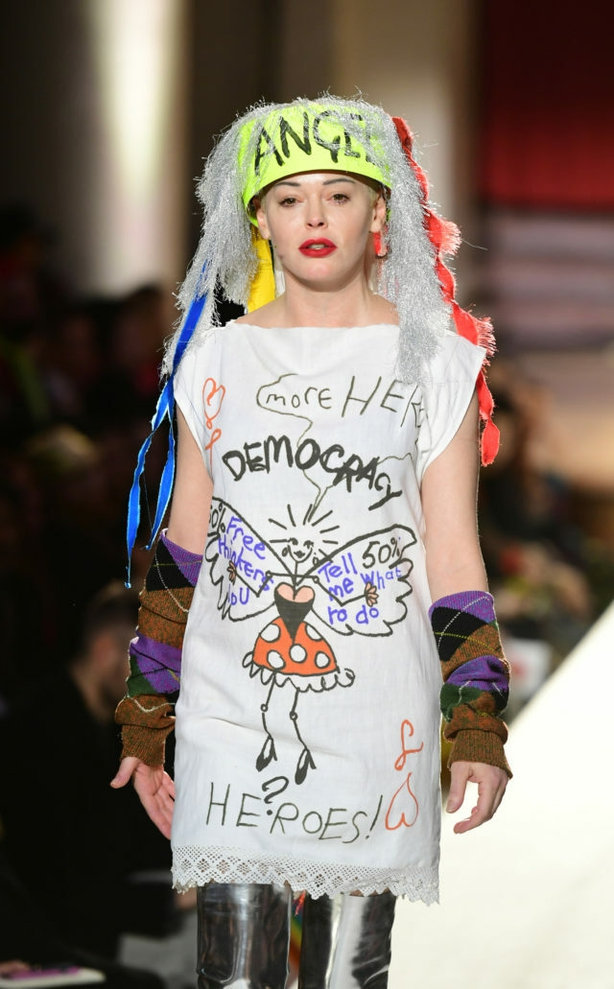 McGowan featured in fellow punk Vivienne Westwood's AW19 London Fashion Week show in February (Ian West/PA)