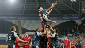 Ospreys v Scarlets in action in the Pro14