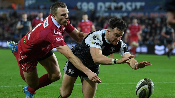 Ospreys' Luke Morgan and Tom Prydie of Scarlets could be on the same team next season