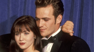 Shannen Doherty and Luke Perry pictured in 1991