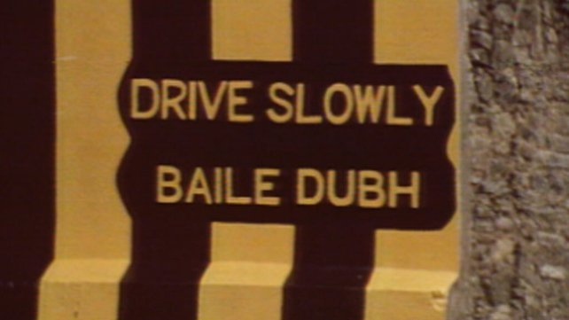 Drive slowly sign, Ballyduff, County Waterford (1979)