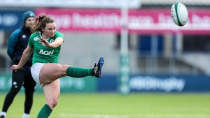 Michelle Claffey suffered an ankle injury against Italy