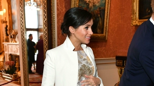 The Duchess was a vision in the shimmering dress