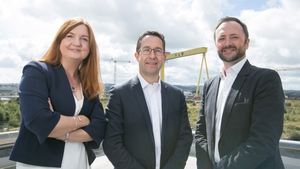 Jayne Brady from Kernel Capital; Alan Foreman, CEO at B-Secur and Andrew Sloane from Accelerated Digital Ventures
