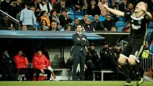 Real Madrid head coach Santiago Solari looks on during his team's defeat