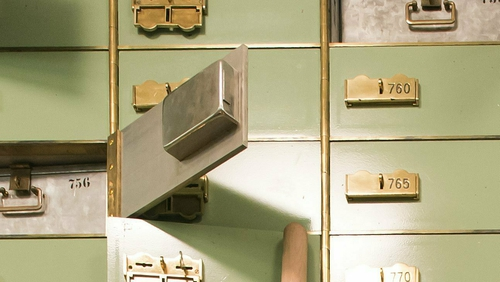 Irish banks stopped taking in safety deposit boxes several years ago