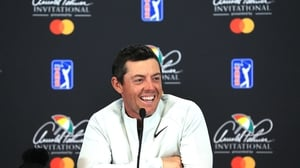 Rory McIlroy speaking at the press conference ahead of the at Bay Hill event