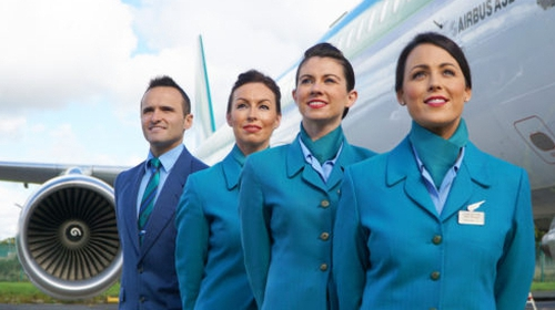 The newly designed Aer Lingus uniform (Pic: Aer Lingus)