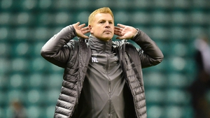 Neil Lennon acknowledges the crowd at Easter Road on Saturday