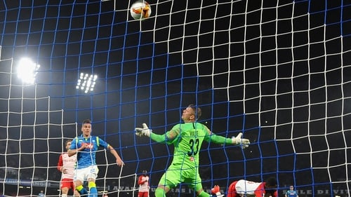 Napoli defeated Red Bull Salzburg