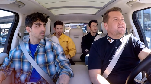 The Jonas Brothers joined James Corden for Carpool Karaoke