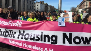 March was part of a series of protests by the Homeless and Housing Coalition
