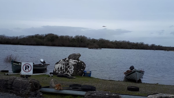 The fisherman went out on his boat on Lough Mask in the Cushlough area