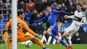 Jame Vardy struck his 100th Leicester goal