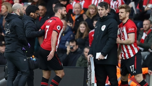 Shane Long was forced off with an injury