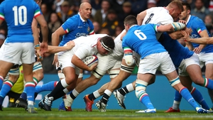 Action from England against Italy