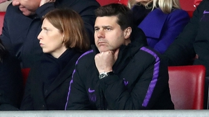 Mauricio Pochettino watched from the stands