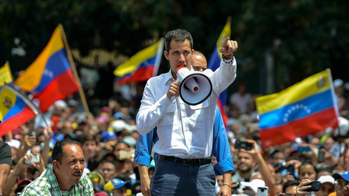 Mr Guaido told thousands of supporters he would embark on a tour of the country before leading a nationwide march on the capital