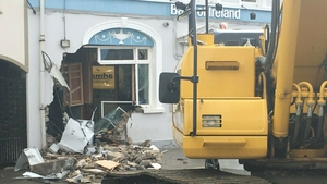 A digger was used to remove the ATM from the bank in Kingscourt