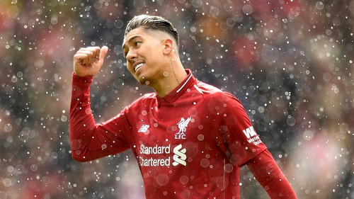 Firmino missed Liverpool's comfortable win at Anfield