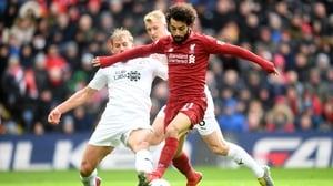 Mo Salah on the attack for Liverpool