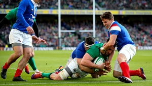 Jack Conan scored Ireland's third try in their 26-14 win over France