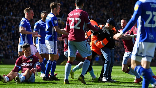 Jack Grealish was punched in the back of the head