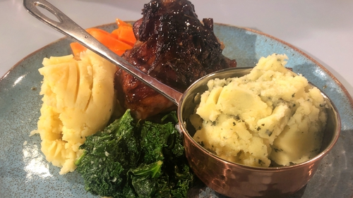 Jenny Maltese's Marinated Lamb Shank with Mint & Smoked Garlic Mash