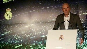 Zinedine Zidane speaks to the media after being announced as new Real Madrid head coach