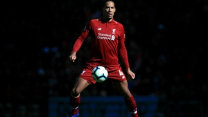 Virgil Van Dijk took part in full training with Liverpool
