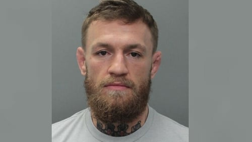 A picture of Conor McGregor released by Miami Beach Police