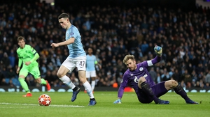 Phil Foden scored Man City's sixth goal on the night