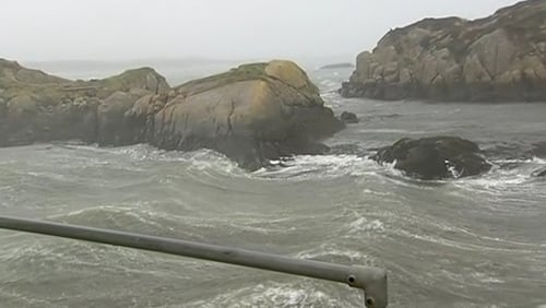 Rough seas off Co Donegal as a result of Storm Gareth
