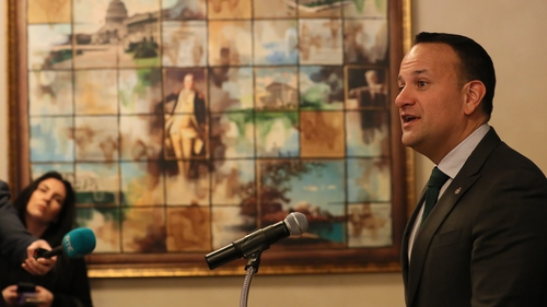 An Taoiseach Leo Varadkar i Washington