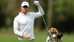 Rory McIlroy will hope his nvoelty head cover brings him luck this week in Florida