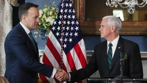 Taoiseach Leo Varadkar and US President Mike Pence (File pic)