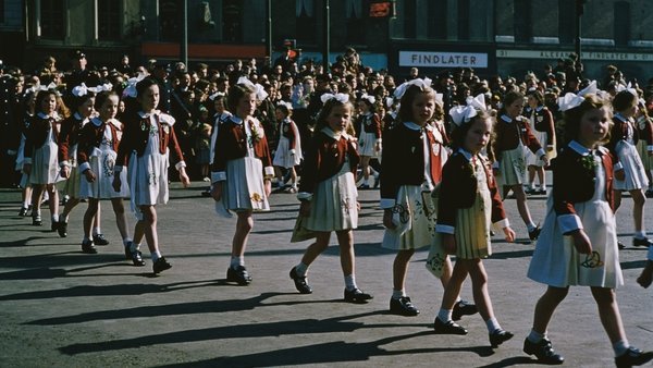 On the march: St Patrick's Day parade in Dublin in 1955. Photo: Bert Hardy/Picture Post/Hulton Archive/Getty Images