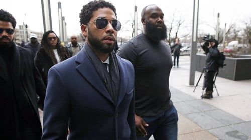Jussie Smollett arrives at Leighton Criminal Courthouse in Chicago