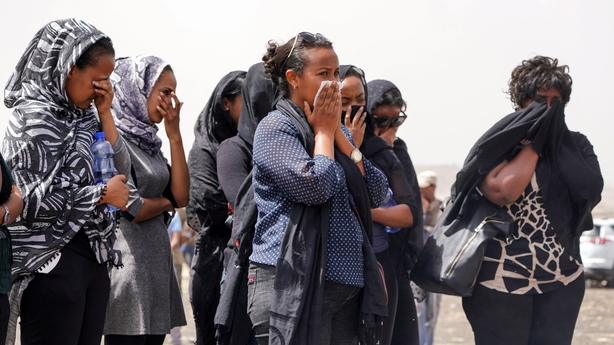 Mourners Visit The Crash Site Of Ethiopian Airlines Flight