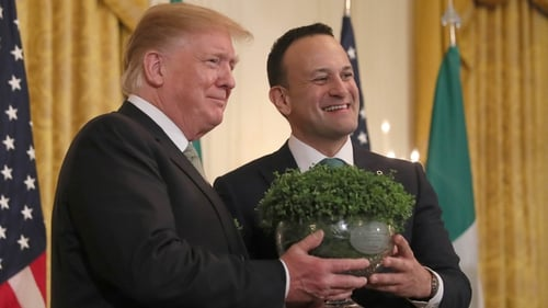 The shamrock ceremony took place at the White House