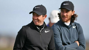 Rory McIlroy is two shots adrift of Tommy Fleetwood in the Players Championship at Sawgrass