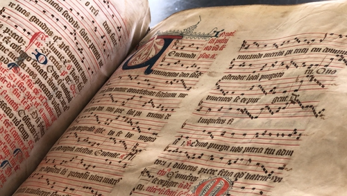 Library of Trinity College Dublin is home to a number of rare manuscripts containing musical notations
