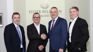 Sean McGreevy, Fane Valley Group Finance Officer; Stuart Steele, Managing Director of Silver Hill Farm; Trevor Lockhart, CEO Fane Valley Group and Micheál Briody, CEO Silver Hill Farm