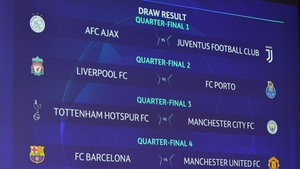 The Champions League quarter-final draw took place in Nyon, Switzerland