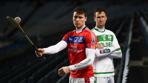 St Thomas' Conor Cooney (L) and Ballyhale Shamrock's Joey Holden will clash on St Patrick's Day