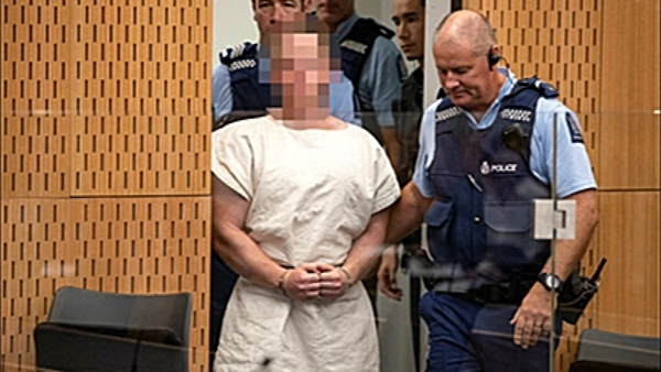 Australian-born Brenton Tarrant appeared in court in Christchurch